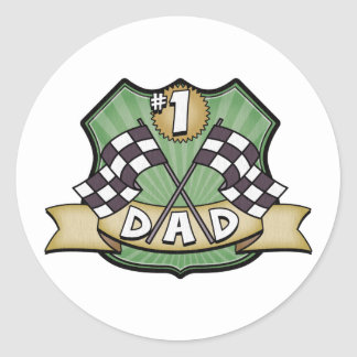 1 Dad Father s Day Race Fan Stickers