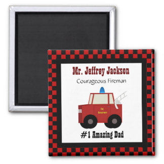 #1 Dad: Fireman Magnet