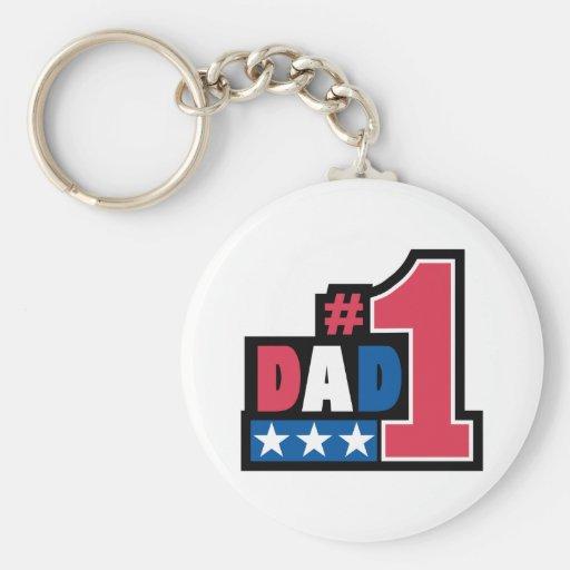 #1 Dad Gift Keychain