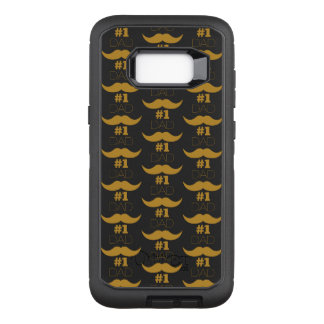 #1 Dad Gold Mustache - Number One OtterBox Defender Samsung Galaxy S8+ Case