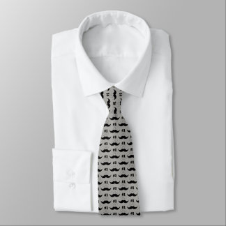#1 Dad Gray and Black Mustache - Number One Tie