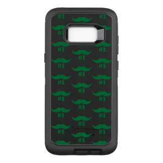 #1 Dad Green Mustache - Number One OtterBox Defender Samsung Galaxy S8+ Case