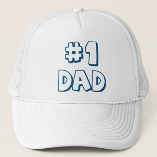 #1 Dad Number One Dad Father's Day Gifts Trucker Hat