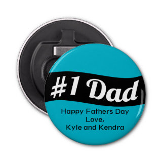 #1 Dad Personalized Bottle Opener