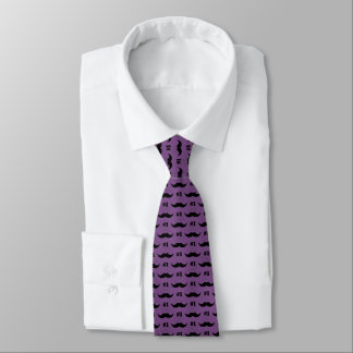 #1 Dad Purple and Black Mustache - Number One Tie