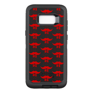 #1 Dad Red Mustache - Number One OtterBox Defender Samsung Galaxy S8+ Case