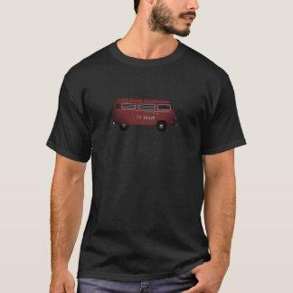 #1 Dad Red Van Retro T-Shirt