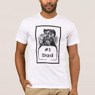 #1 Dad Vintage Drawing T-Shirt