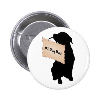 #1 Dog Dad Pin