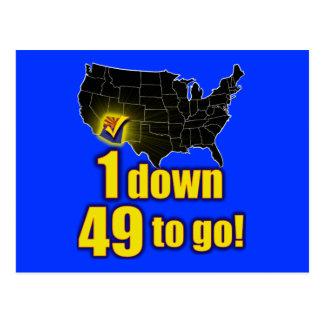 1 down, 49 to go! - Arizona Immigration Postcard