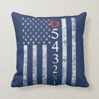 1 Down 5 up Flag Cushion