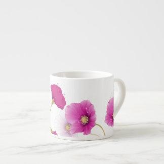 1 Espresso Mug Floral Pink Flowers White DECOR SET Espresso Cup