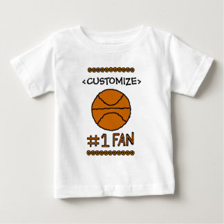 #1 Fan Basketball Customize it Baby T-Shirt