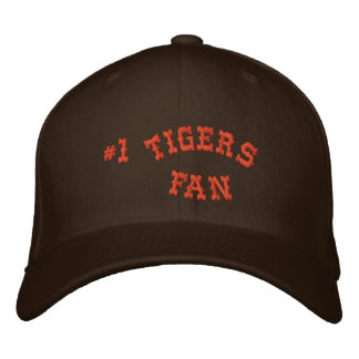 #1 Fan Brown and Orange Basic Flexfit Wool Embroidered Hat