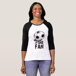 #1 Fan Ladies Football Tee