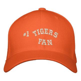 #1 Fan Orange and Cream Basic Flexfit Wool Embroidered Cap