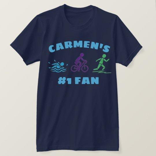 #1 Fan Personalised Triathlon Ironman Race Athlete T-Shirt
