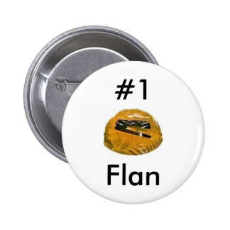 #1 flan 6 cm round badge