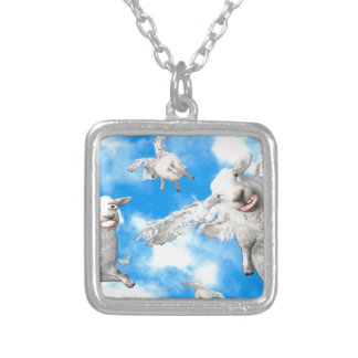 1_FLYING SHEEP SILVER PLATED NECKLACE