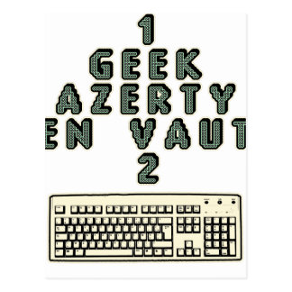 1 GEEK AZERY is worth 2 of them - Plays of motsT Postcard