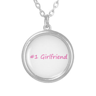 #1 Girlfriend Silver Plated Necklace