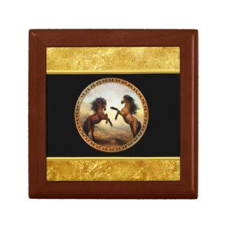 1 gold frame horses gift box