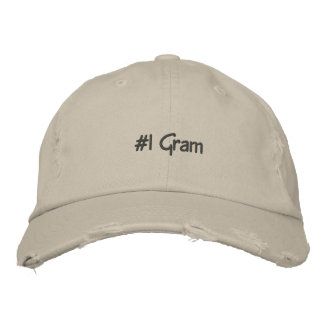 #1 Gram Embroidered Custom Cap Embroidered Hat
