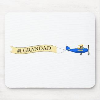 #1 Grandad Biplane Banner Mousepad