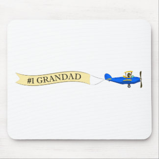 1 Grandad Biplane Banner Mousepad