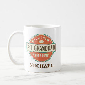 #1 Granddad Personalized Office Mug Gift