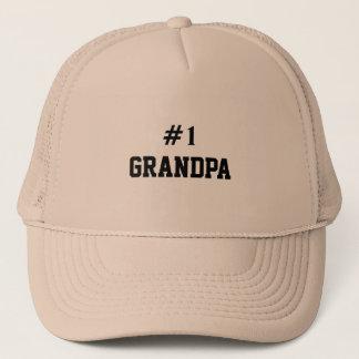 #1 GRANDPA - Customizable Trucker Hat
