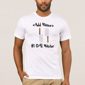 #1 Grill Master Personalized T-Shirt