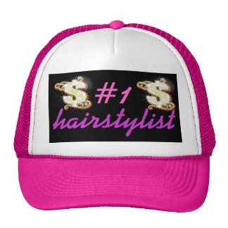 # 1 Hairstylist Bling Money Symbol Trucker Hat