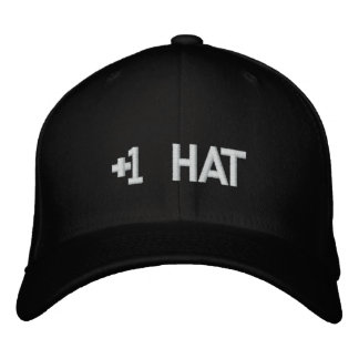 +1 Hat Embroidered Hat