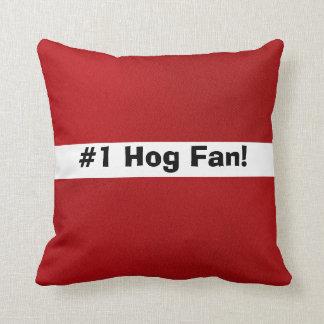 # 1 Hog Fan! Throw Pillow