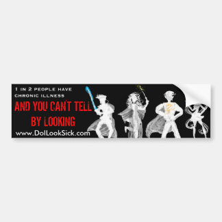 1 in 2 Cosplayers Invisible Illness Bumper Sticker