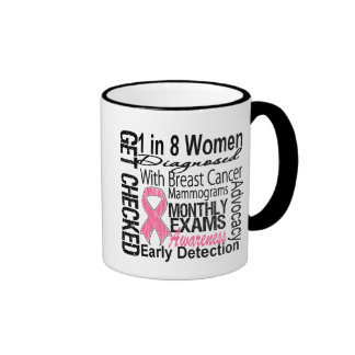 1 in 8 Women - Breast Cancer Awareness Coffee Mugs