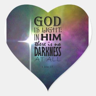 1 John 1:5 Heart Sticker
