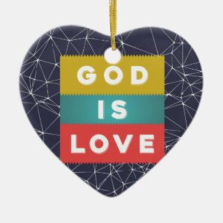 1 John 4:8 - God Is Love Ceramic Heart Decoration