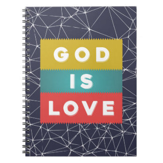 1 John 4:8 - God Is Love Notebook