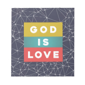 1 John 4:8 - God Is Love Notepads