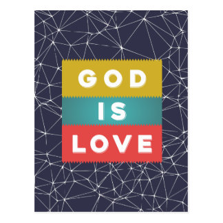 1 John 4:8 - God Is Love Postcard