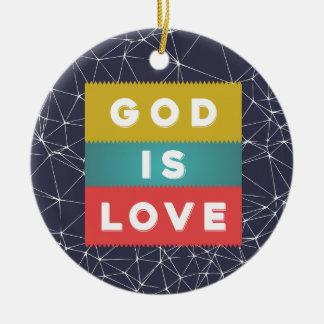 1 John 4:8 - God Is Love Round Ceramic Decoration