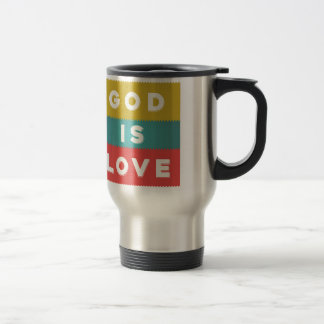 1 John 4:8 - God Is Love Travel Mug