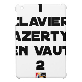 1 KEYBOARD AZERTY IS WORTH 2 of THEM - Word games iPad Mini Covers