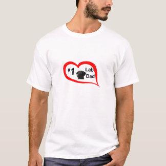 #1 lab dad (bl) T-Shirt