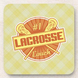 #1 Lacrosse Coach (orange) Coasters