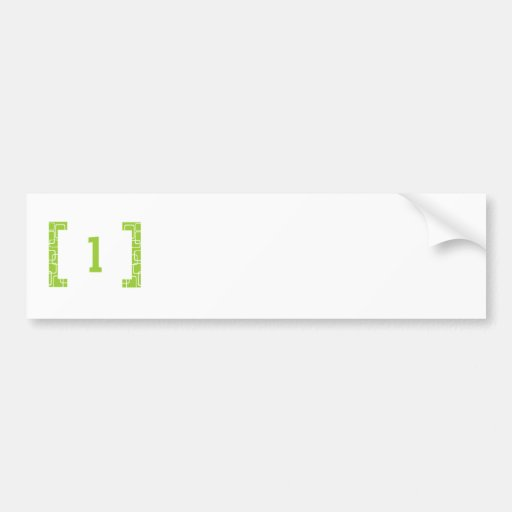 #1 Lime Green Bumper Stickers