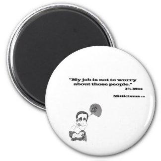 1% Mitt Refrigerator Magnet