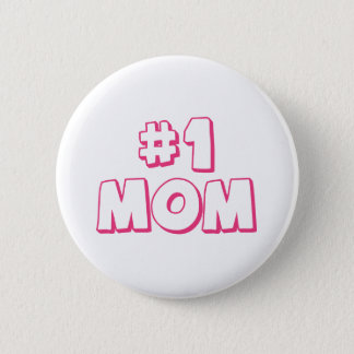 #1 Mom Number One Mom Tote bag 6 Cm Round Badge